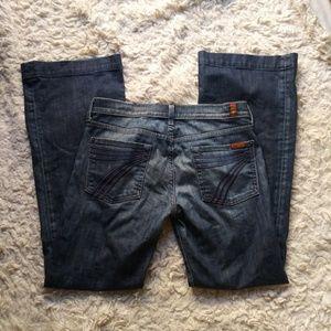 7FAM Dojo Petitte Flare Jeans Size 30